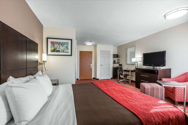 Spacious Room With Flat Screen Television